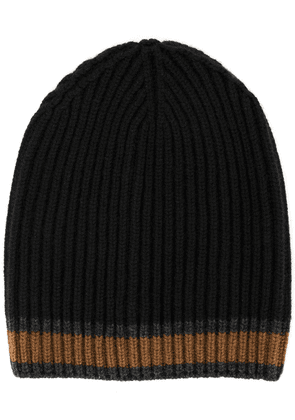 Dolce & Gabbana striped knitted hat - Blue