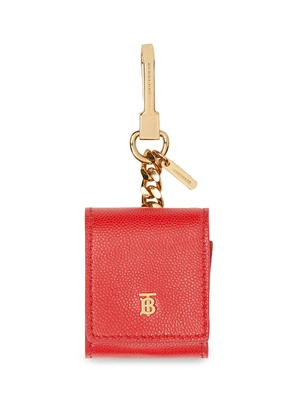 Burberry Grainy Leather Earphone Case - Red