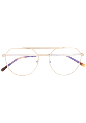 Lacoste oversized aviator-frame glasses - GOLD