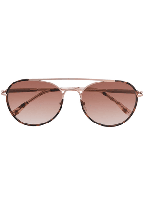 Lacoste aviator-frame sunglasses - Brown