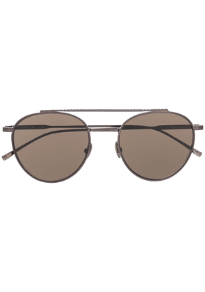 Lacoste aviator shaped sunglasses - Black