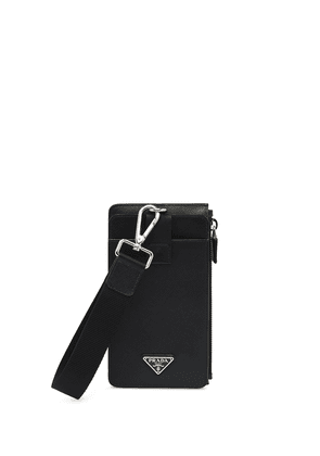 Prada Saffiano leather phone case - Black