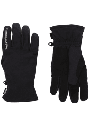 Peak Performance Windstopper logo gloves - Black