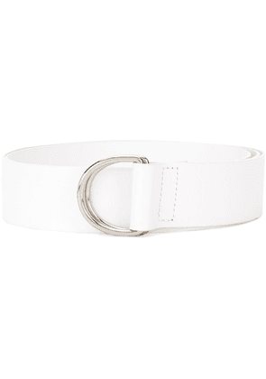 Federica Tosi d-ring leather belt - White