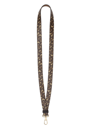 Burberry TB monogram print lanyard - Brown