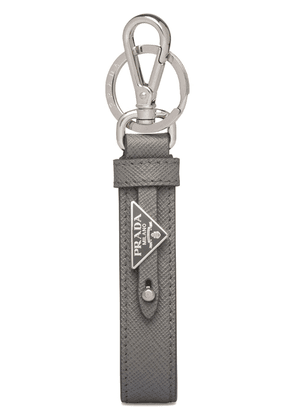 Prada Saffiano leather keychain - Grey