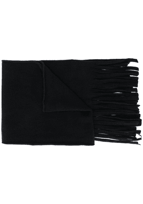 Cedric Jacquemyn felted hand-knitted scarf - Black
