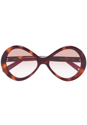 Chloé Eyewear Bonnie oval-frame sunglasses - Brown