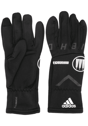 adidas x Neighborhood logo detail gloves - Black