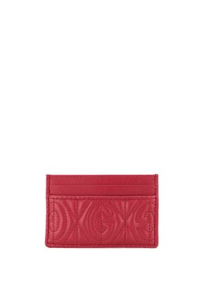 Gucci G quilted cardholder - Red