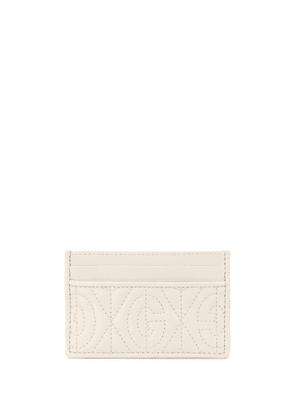Gucci G quilted cardholder - NEUTRALS