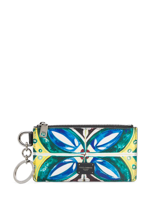Dolce & Gabbana Dauphine patterned coin pouch - White