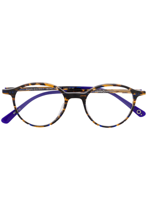 Etnia Barcelona Pearl District round frame glasses - Brown