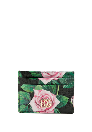 Dolce & Gabbana Tropical Rose print cardholder - Black