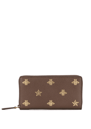 Gucci bee and star wallet - Brown