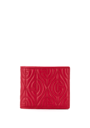 Gucci G quilted bi-fold wallet - Red