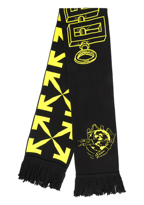 Off-White Universal Key knitted scarf - Black