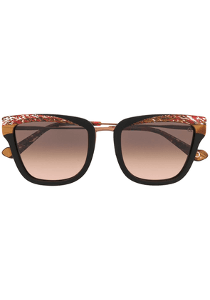 Etnia Barcelona marbled ridge sunglasses - Black
