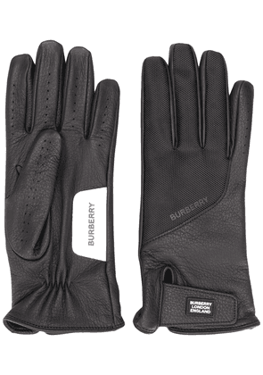 Burberry logo patch gloves - Black