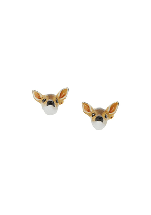 Burberry deer motif cufflinks - Brown