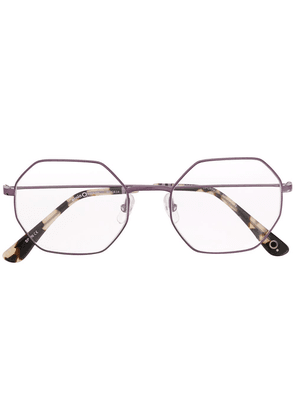 Etnia Barcelona hexagonal frame glasses - PURPLE