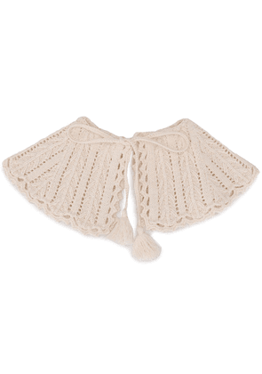 MSGM tie knitted collar - White