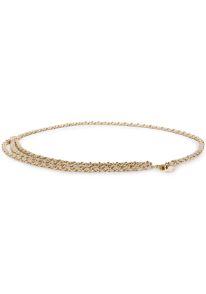 B-Low The Belt rope chain layered belt - GOLD