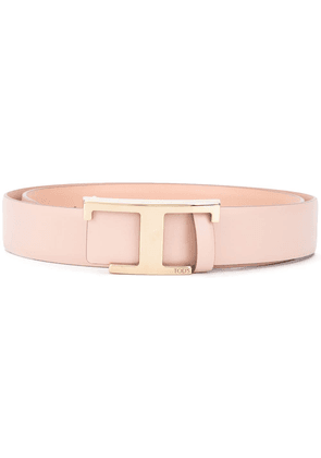 Tod's T monogram buckled belt - PINK