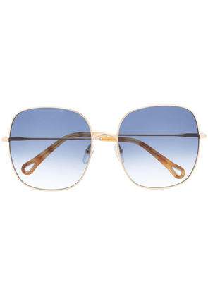 Chloé Eyewear Elliz square-frame sunglasses - GOLD