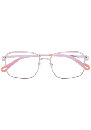 Chloé Eyewear square-frame wire glasses - PINK