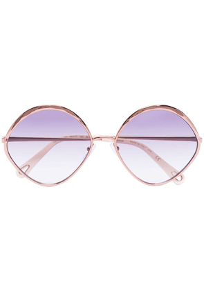 Chloé Eyewear Dani diamond-frame sunglasses - GOLD