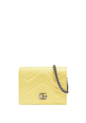 Gucci GG Marmont card case wallet - Yellow