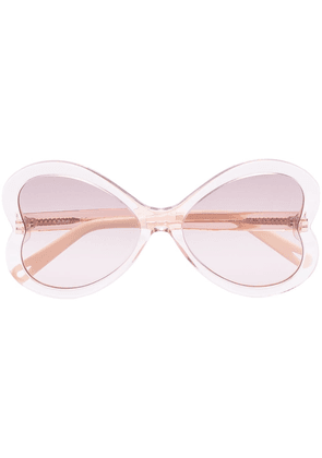Chloé Eyewear Bonnie heart-frame sunglasses - NEUTRALS
