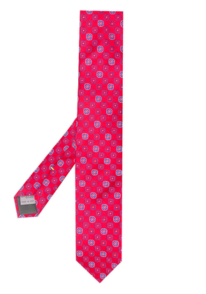 Canali micro-pattern tie - Red