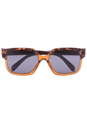 Celine Eyewear Maillons Triomphe square-frame sunglasses - Brown
