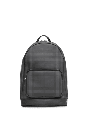 Burberry London Check and Leather Backpack - Black
