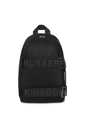 Burberry large logo strap backpack - Black