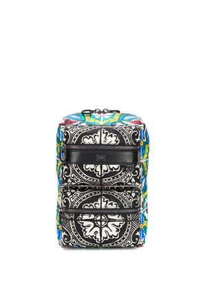 Dolce & Gabbana Sicilia DNA Maiolica print backpack - Black