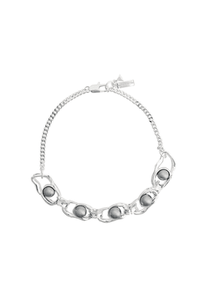 Coup De Coeur liquid pearl necklace - SILVER