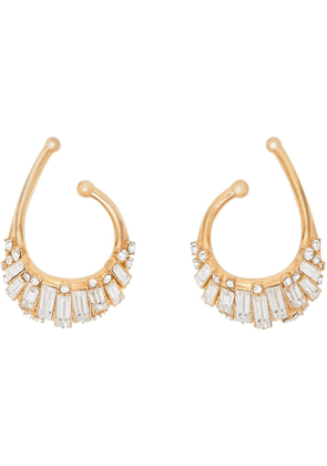 Burberry crystal-embellished ear cuffs - GOLD