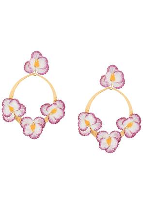 Jennifer Behr Voleta floral earrings - GOLD