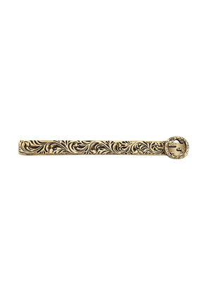 Gucci 18kt yellow gold textured tie pin
