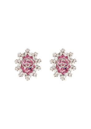 Gucci GG logo clip on earrings - PINK