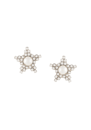 Jennifer Behr Arvida crystal earrings - SILVER
