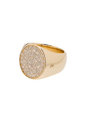 Tom Wood round diamond pinkie ring - GOLD
