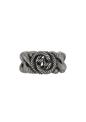 Gucci twisted monogram ring - SILVER