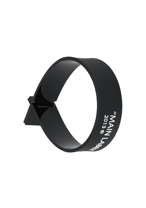 Off-White 'main label' wristband - Black