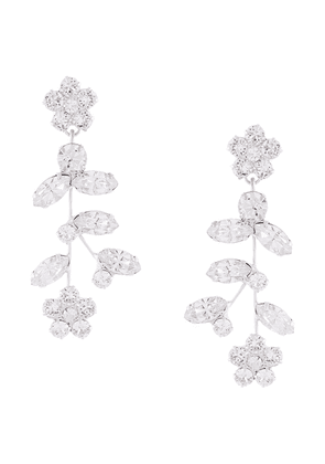 Jennifer Behr Andrea floral crystal-drop earrings - White