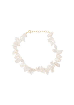Hermina Athens Fistiki gold-plated anklet - WHITE GOLD