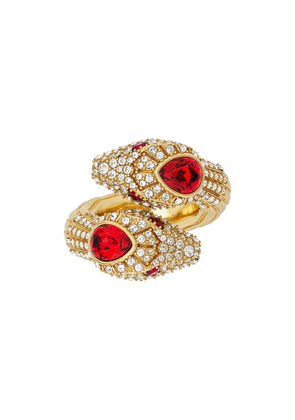 Gucci crystal embellished snake ring - GREY WITH BLUE RED DETAIL